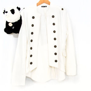 White Express military style jacket